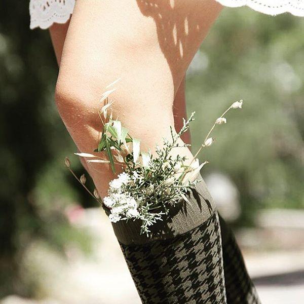 Dama - Kniestrümpfe Damen Socken HAHNENTRITT Muster Kneehigh 50 DEN – Bild 24