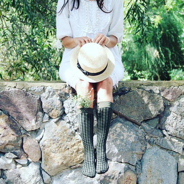 Dama - Kniestrümpfe Damen Socken HAHNENTRITT Muster Kneehigh 50 DEN – Bild 11