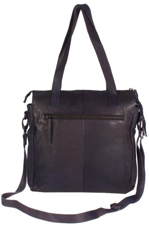 SantCona - Shopper Schultertasche Leder mit Stern Star Motiv aus Nieten Studed Vintage URBAN BAG Damen Handtaschen 31x34x10 cm (B x H x T) – Bild 7