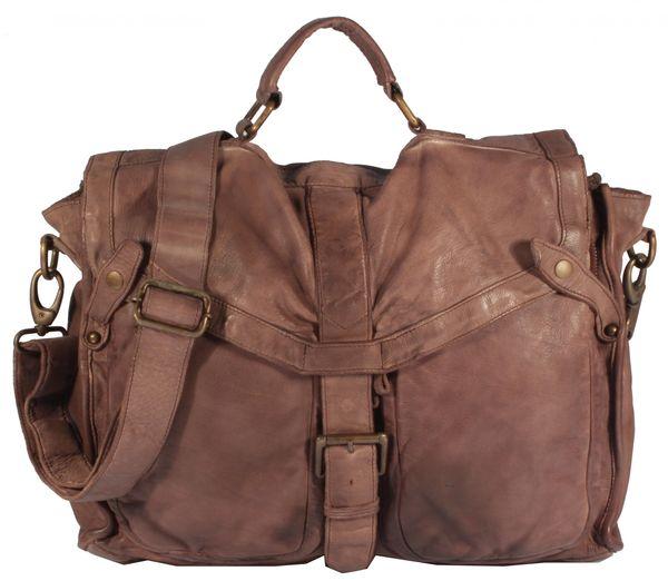 Rotella - Schultertasche Beuteltasche Satchel Bag Ledertasche Used-Look Damen Umhängetaschen Handtaschen Henkeltaschen 36x32x12 cm (B x H x T) – Bild 1