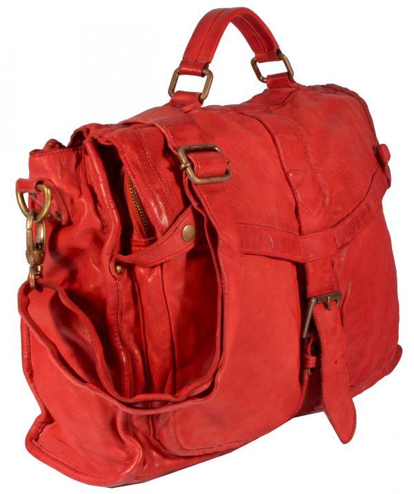 Rotella - Schultertasche Beuteltasche Satchel Bag Ledertasche Used-Look Damen Umhängetaschen Handtaschen Henkeltaschen 36x32x12 cm (B x H x T) – Bild 16