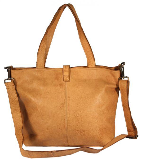 Manciano - Leder Shopper Schultertasche Vintage Nieten Perforiert Used-Look Studs Perforation MEDITERRAN URBAN BAG Damen Handtaschen Henkeltaschen 29x40x12 cm (B x H x T) – Bild 4