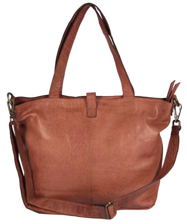 Manciano - Leder Shopper Schultertasche Vintage Nieten Perforiert Used-Look Studs Perforation MEDITERRAN URBAN BAG Damen Handtaschen Henkeltaschen 29x40x12 cm (B x H x T) – Bild 9