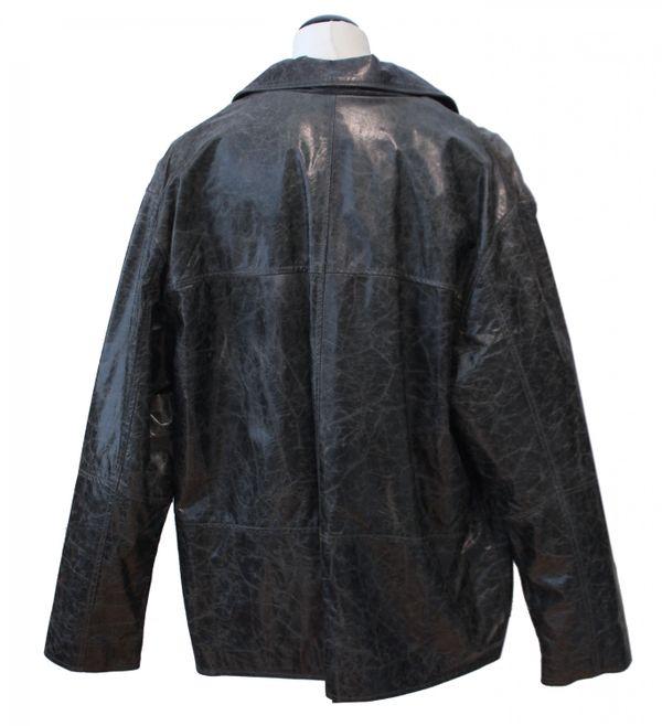 Coppelius - Lederjacke Herrenjacke Blouson gewachstes crushed Leder mit Reißverschluss Rindleder Jacke Comfort Fit relaxter Passform schwarz beige – Bild 9