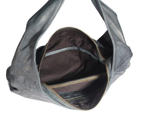 Banrallo - Leder Schultertasche Hobobag URBAN BAG Damen Shopper Henkeltaschen Beuteltasche 40x32x13 cm (B x H x T) – Bild 23