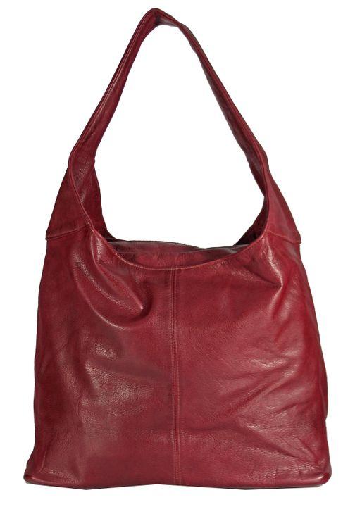 Banrallo - Leder Schultertasche Hobobag URBAN BAG Damen Shopper Henkeltaschen Beuteltasche 40x32x13 cm (B x H x T) – Bild 9