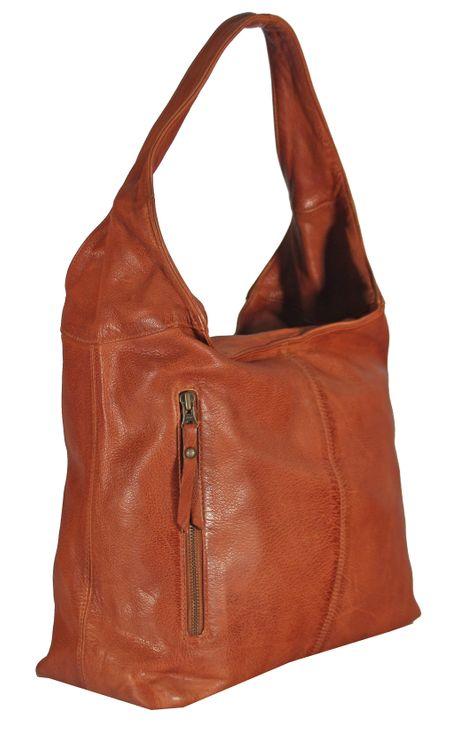 Banrallo - Leder Schultertasche Hobobag URBAN BAG Damen Shopper Henkeltaschen Beuteltasche 40x32x13 cm (B x H x T) – Bild 2