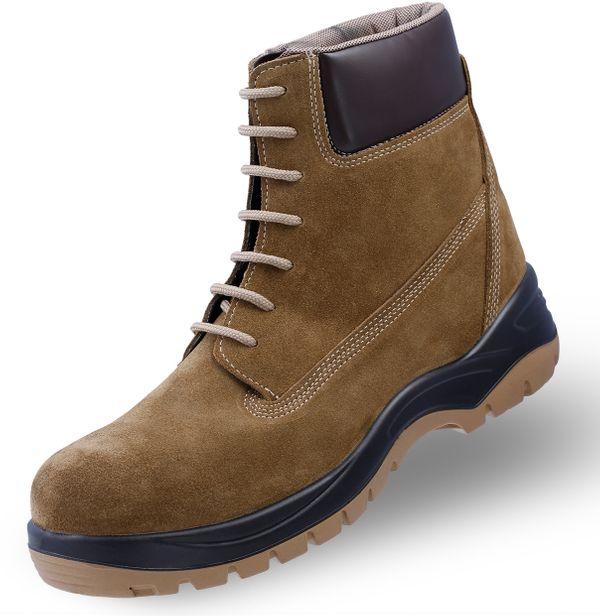 POLICAP 204 - Unisex Erwachsene Arbeits & Sicherheitsschuhe Stiefeln Boots S2 SRC ESD Mekap Safety Shoes Footwear Leder Wildleder Suede – Bild 1