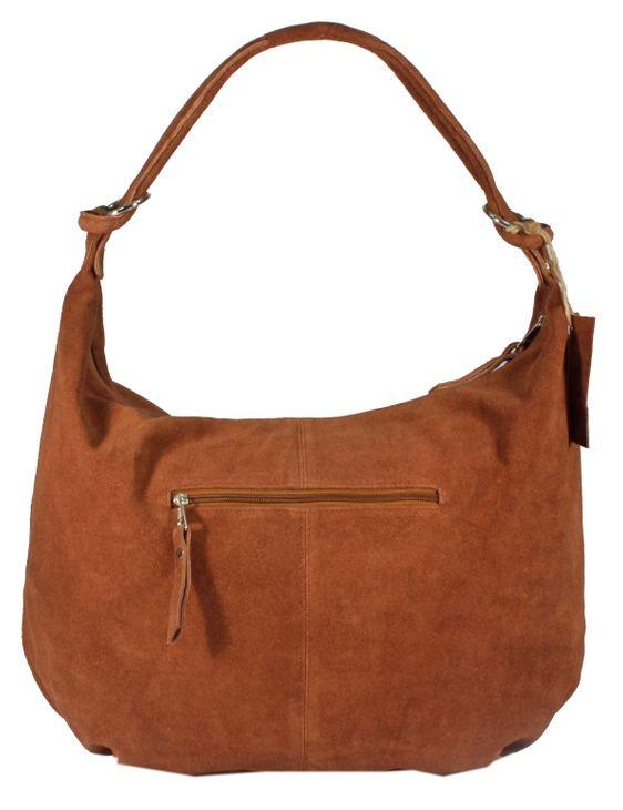 Varese Premium - große Schultertasche Hobobag Handtaschen UsedLook StoneWashed Wildleder Rindleder Henkeltaschen Shopper Beuteltasche 34x46x10 cm (B x H x T) – Bild 22