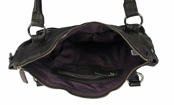 Mareira - Ledertasche Shopper Schultertasche URBAN BAG Used-Look Washed Einfarbig Damen Handtaschen 43x28x14 cm (B x H x T) – Bild 16