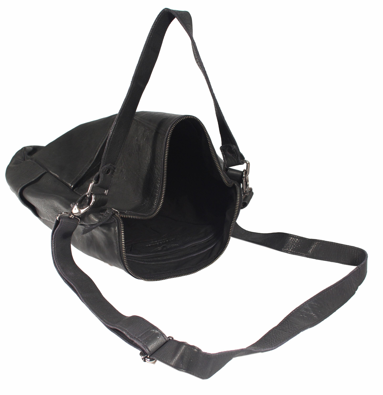 0af80f163e128 Tavira - große Umhängetasche Ledertasche HochFormat Washed Leder URBAN BAG  Damen Schultertaschen Handtaschen Messenger 38x30x11 cm