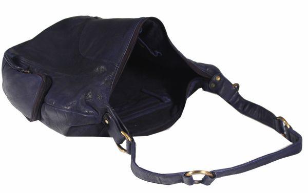 Ferragudo - Leder Schultertasche Hobobag Shopper MEDITERRAN URBAN BAG Damen Handtaschen Henkeltaschen Beuteltasche 30x33x11 cm (B x H x T) – Bild 4