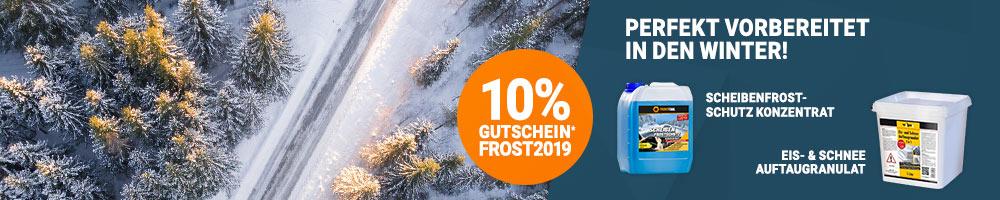 10% Rabatt auf Winterartikel mit Gutschein FROST2019