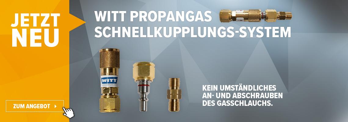 Schluss mit dem umständlichen An- und abschrauben vom Gasschlauch an Gasflasche, Gasgrill oder Gasherd!