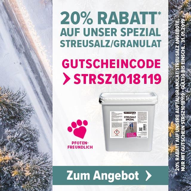 Mit unserem Auftaugranulat Streusalz Spezial sicher durchden Winter, jetzt mit 20% Rabatt
