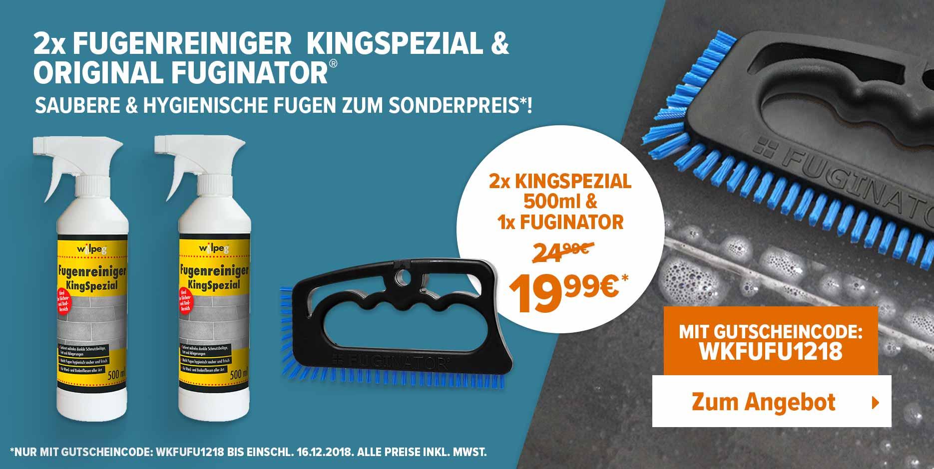 2x FUGENREINIGER  KINGSPEZIAL & ORIGINAL FUGINATOR - Saubere & hygienische Fugen zum sonderpreis! Rabatt mit Gutschein WKFUFU1218