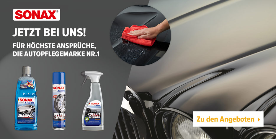 Jetzt neu bei uns, Autopflegeprodukte von Sonax
