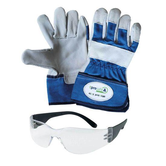 tprosafe Junior-Set - Kinderhandschuh kids premium + Schutzbrille