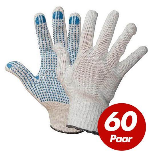 WILPEG Polyester Strickhandschuhe KORL mit PVC Noppen VPE 60 Paar