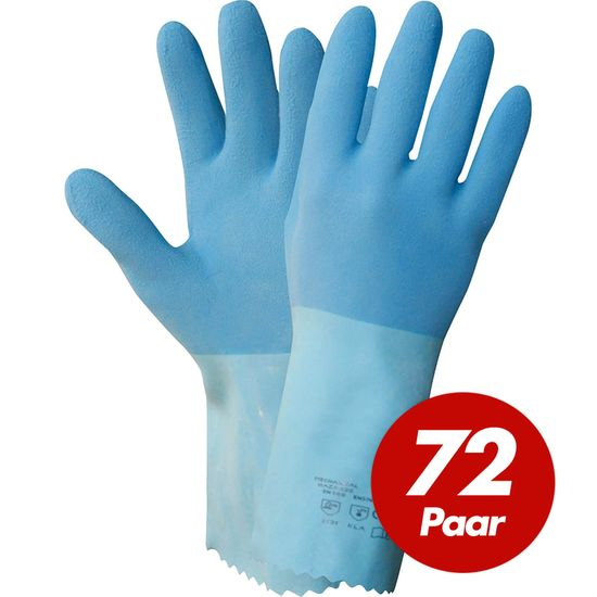 NITRAS Blue Power Grip Latexhandschuhe 1611 - 72 Paar