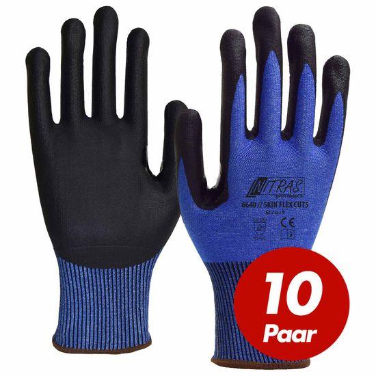 NITRAS Schnittschutzhandschuh Skin Flex 6640 CUT 5 - VPE 10 Paar