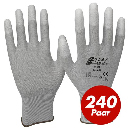 NITRAS ESD-Handschuhe 6230T - VPE 240 Paar