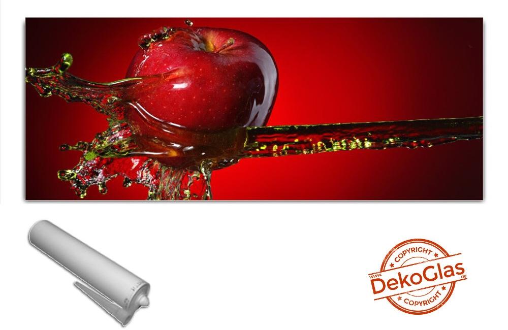 Kuchenruckwand Von Dekoglas 125x50cm Spritzschutz Apfel Wasser