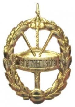 Metallabzeichen Trommel mit Kranz – Bild 1