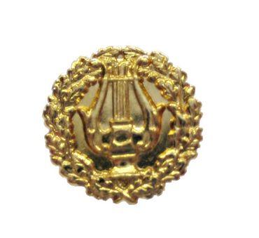 Metallabzeichen Lyra mit Lorbeer – Bild 1
