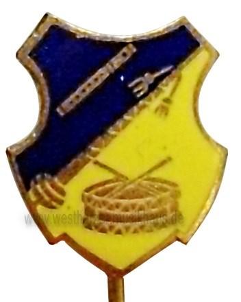 Emailleabzeichen Spielmannszug blau-gelb