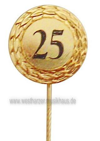 Jubilarabzeichen Zahl 25 gold