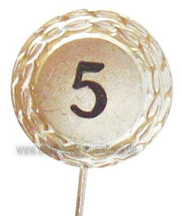 Jubilarabzeichen Zahl 5 versilbert