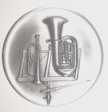 Auflage Motiv BO 5 cm silber