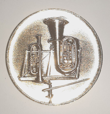 Auflage Motiv BO 5 cm goldfarbig