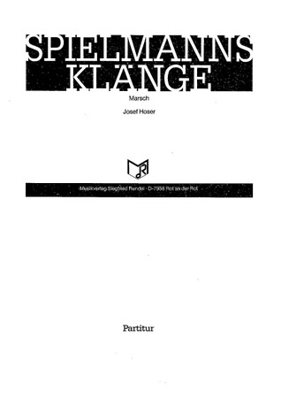 Spielmannsklänge: einzelne Partitur für SZ – Bild 1