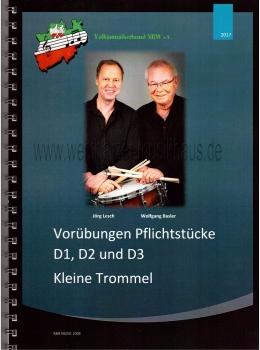 Wolfgang Basler, Jörg Lesch, Vorübungen Pflichtstücke D1, D2 und D3, Kleine Trommel, R&B-VP