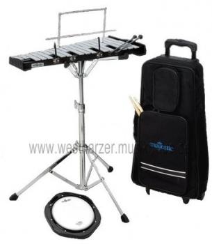 MAJESTIC Schülerinstrumenten-Kit mit Glockenspiel und Trolley