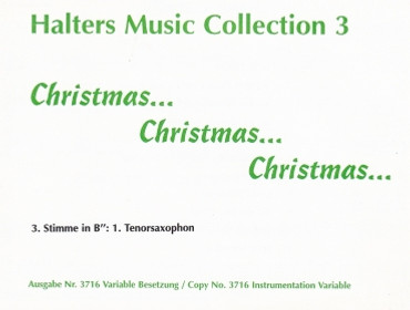 Halters Music Collection 3, Christmas, Christmas, Christmas, WH 3716