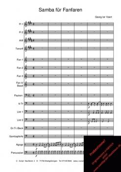 Samba für Fanfaren, CS 18070 – Bild 1