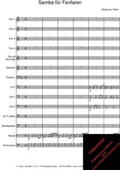 Samba für Fanfaren, CS 27100 – Bild 1