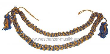 Paradetrommelzierschnur Blau/Gelb