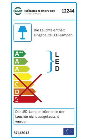 "K&M Notenpultleuchte Flex Light 12244 ""Double2 LED"" – Bild 2"