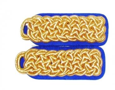 Schulterstücke Gold/Blau