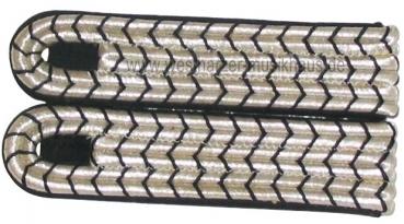 Schulterstücke mit Nationale Silber/Schwarz