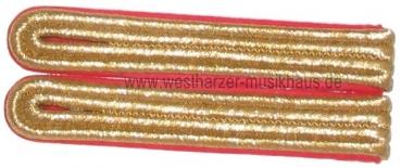 Schulterstücke Gold/Rot