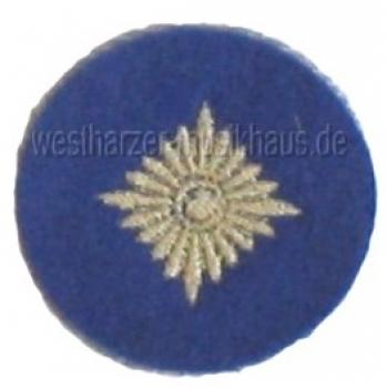 Gesticktes Abzeichen Dienstgradstern Gold/Mittelblau