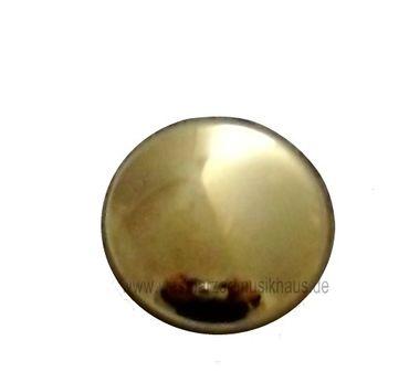 Uniformknopf glatt goldfarbig ca. 21 mm Ø