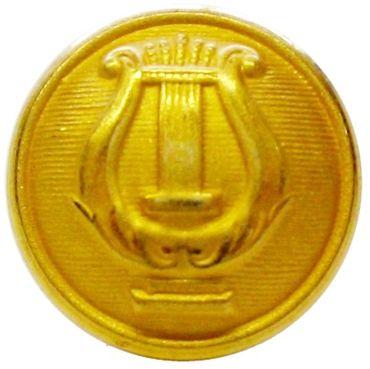 Uniformknopf mit Lyra goldfarbig ca. 22 mm Ø