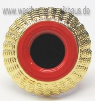 Kokarde schwarz-rot-gold mit Splint