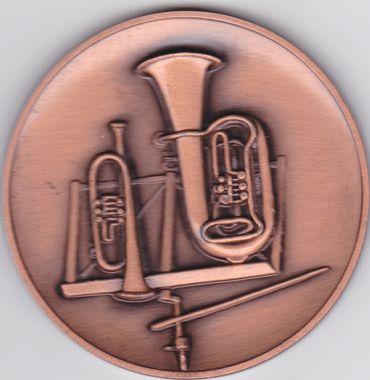 Medaille für Blasorchester, Auflage, bronze, 50 mm Ø